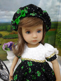 Emerald Isle - dress, hat, tights & shoes for Little Darling Doll or 33cm BJD
