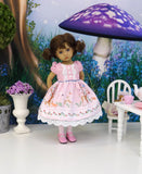 Enchanted Forest - dress, tights & shoes for Little Darling Doll or 33cm BJD