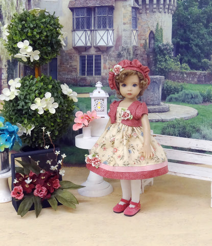 English Countryside - jacket, hat, dress, tights & shoes for Little Darling Doll or 33cm BJD