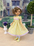 English Garden - dress, tights & shoes for Little Darling Doll or other 33cm BJD