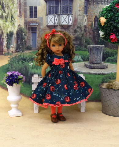 Fall Corsage - dress, tights & shoes for Little Darling Doll or other 33cm BJD