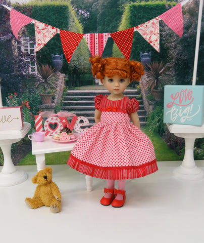 Fall in Love - dress, tights & shoes for Little Darling Doll or 33cm BJD