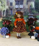 Festive Pumpkin - dress, hat, tights & shoes for Little Darling Doll or 33cm BJD