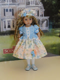 Floral Bliss - dress, hat, tights & shoes for Little Darling Doll