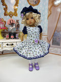 Floral Melody - dress, beret, tights & shoes for Little Darling Doll or other 33cm BJD