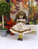 Floral Frenzy - dress, tights & shoes for Little Darling Doll or other 33cm BJD