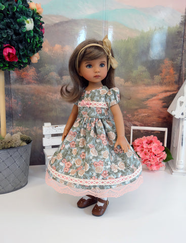 Flower Girl - dress, tights & shoes for Little Darling Doll or other 33cm BJD