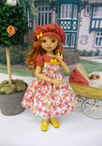 Flowers in Fall - dress, beret, tights & shoes for Little Darling Doll or 33cm BJD
