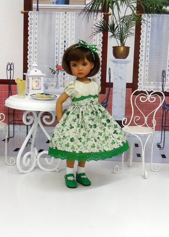 Four Leaf Clover - dress, socks & shoes for Little Darling Doll or 33cm BJD