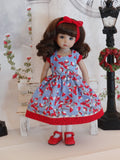 Frosted Berries - dress, tights & shoes for Little Darling Doll or 33cm BJD