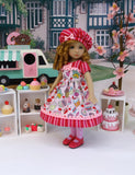 Frosted Cupcakes - dress, hat, tights & shoes for Little Darling Doll or 33cm BJD