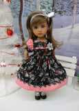Frosted Holly - dress, socks & shoes for Little Darling Doll or 33cm BJD