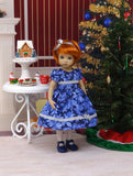 Frosted Leaves - dress, tights & shoes for Little Darling Doll or 33cm BJD