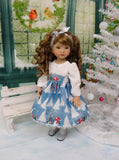Frosty Snowman - dress, tights & shoes for Little Darling Doll or 33cm BJD
