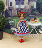Fruit Cobbler - dress, socks & shoes for Little Darling Doll or 33cm BJD