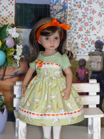 Garden Bunny - dress, tights & shoes for Little Darling Doll