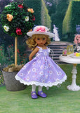 Garden Gala - dress, hat, tights & shoes for Little Darling Doll or other 33cm BJD