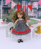 Garden of Love - dress, tights & shoes for Little Darling Doll or 33cm BJD