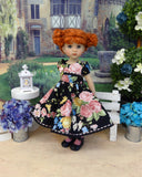 Garden Rose - dress, tights & shoes for Little Darling Doll or other 33cm BJD