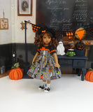 Ghostly Graveyard - dress, beret, socks & saddle shoes for Little Darling Doll or 33cm BJD