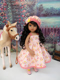 Giddy Up - dress, hat, tights & shoes for Little Darling Doll