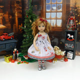 Gift Giving - dress, tights & shoes for Little Darling Doll or 33cm BJD