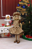 Gingerbread Cookies - dress, hat, tights & shoes for Little Darling Doll or 33cm BJD