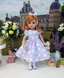 Gingham Bunny - dress, tights & shoes for Little Darling Doll or other 33cm BJD