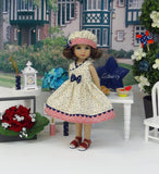 Glory Stars - dress, hat & sandals for Little Darling Doll or 33cm BJD