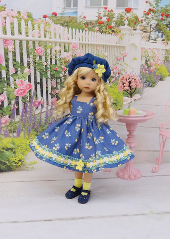 Golden Cherries - dress, hat, socks & shoes for Little Darling Doll or other 33cm BJD