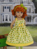 Golden Delicious - dress, tights and shoes for Little Darling Doll