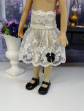 Golden Grandeur - dress, slip & shoes for Little Darling Doll or 33cm BJD