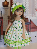 Good Luck - dress, hat, tights & shoes for Little Darling Doll