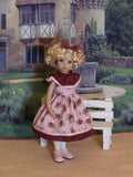 Grandma's Rose - dress, tights & shoes for Little Darling Doll