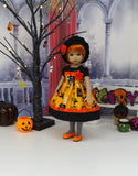 Graveyard Haunt - dress, beret, tights & shoes for Little Darling Doll or 33cm BJD