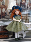 Green Fern Glen - dress, beret, tights & shoes for Little Darling Doll