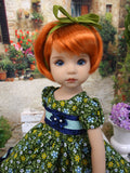 Green Garden - dress, tights & shoes for Little Darling Doll or other 33cm BJD