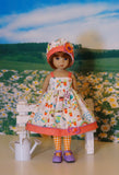 Green Thumb - dress, hat, tights & shoes for Little Darling Doll