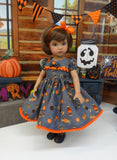 Halloween Candy - dress, tights & shoes for Little Darling Doll or 33cm BJD