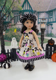 Halloween Costumes - dress, sweater, hat, tights & shoes for Little Darling Doll or 33cm BJD