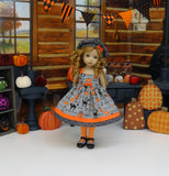 Halloween Eve - dress, jacket, beret, tights & shoes for Little Darling Doll or 33cm BJD