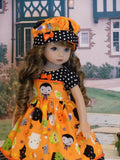 Halloween Fun - dress, hat, tights & shoes for Little Darling Doll or 33cm BJD