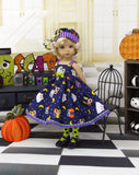 Halloween Owls - dress, hat, tights & shoes for Little Darling Doll or 33cm BJD
