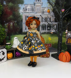 Halloween Pup - dress, tights & shoes for Little Darling Doll or 33cm BJD