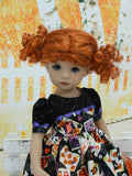 Halloween Tarot - dress, tights & shoes for Little Darling Doll or 33cm BJD