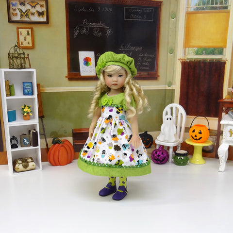 Halloween Treats - dress, beret, tights & shoes for Little Darling Doll or 33cm BJD
