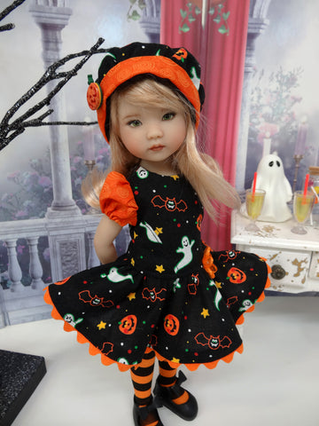 Happy Haunting - dress, hat, tights & shoes for Little Darling Doll or other 33cm doll