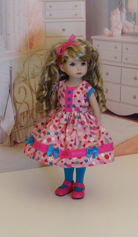 Hard Candy - dress, tights & shoes for Little Darling Doll or 33cm BJD