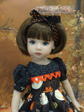 Harvest Squirrel - dress, tights & shoes for Little Darling Doll or 33cm BJD