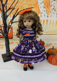 Haunted Halloween - dress, tights & shoes for Little Darling Doll or 33cm BJD